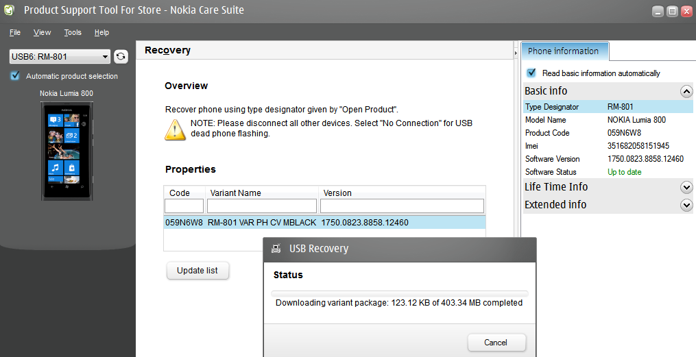 nokia lumia 800 usb driver free download